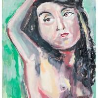 Francesca, olio su cartone, 70 x 50 cm