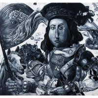 Braccio da Montone, olio su tela, 120 x 150 cm