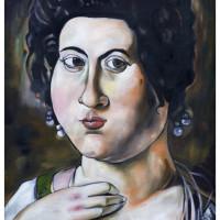 Fillide Melandroni, olio su tela, 100 x 70 cm