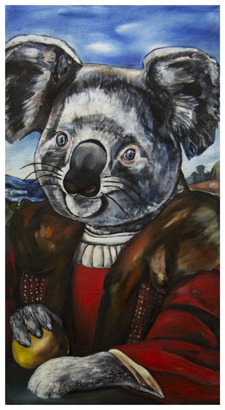 Gentil Koala, olio su tela, 100 x 60 cm
