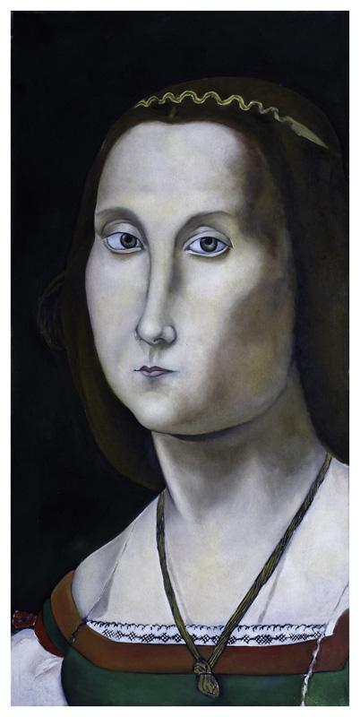 La Muta, olio su tela, 60 x 30 cm