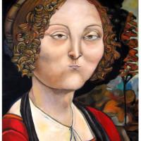 Ritratto di Beatrice Cenci, olio su tela, 110 x 70 cm