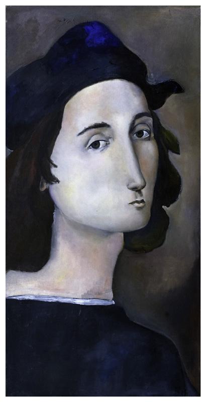 Ritratto di Raffaello, olio su tela 60 x 30 cm