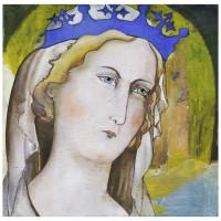 Vergine Siciliana, olio su tela, 50 x 50 cm