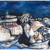 Il Cavaliere Guidarello, olio su tela 60 x 150 cm