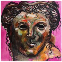 Afrodite, olio su tavola, 98 x 100 cm