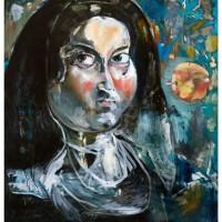 Ritratto di giovane Suora, olio su tela, 140 x 110 cm