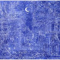 L' Eclisse del 1492, Linografia, 70 x 50 cm