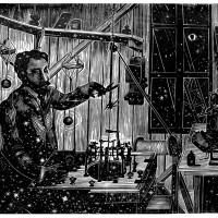 Lo Studio di Eiffel, Linografia, 50 x 38 cm