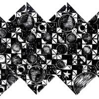Costellazione II, Linografia, 50 x 70 cm