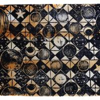 Costellazione V, Linografia, 40 x 60 cm