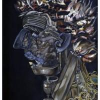 Il Fuoco (d'apres Arcimboldo), olio su tela, 70 x 50