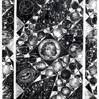 La Costellazione di Artemisia, Linografia, 90 x 60 cm
