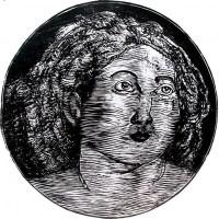 Lucrezia, Linografia, 50 x 50 cm