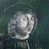 Ritratto di Giovane Pittore, linografia, 50 x 50 cm