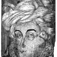 L'Uomo con Turbante, Xilografia, 70 x 50 cm