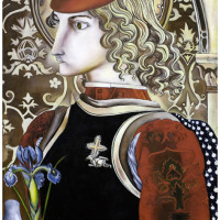 San Giorgio, olio su tela, 150 x 80 cm