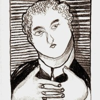 El Poeta, matita su carta, 15 x 10 cm