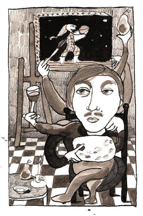 Los Brazos del Pintor, matita e china su carta, 15 x 10 cm