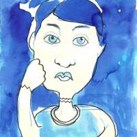El Hombre Roto, matita e acquerello su carta, 15 x 10 cm
